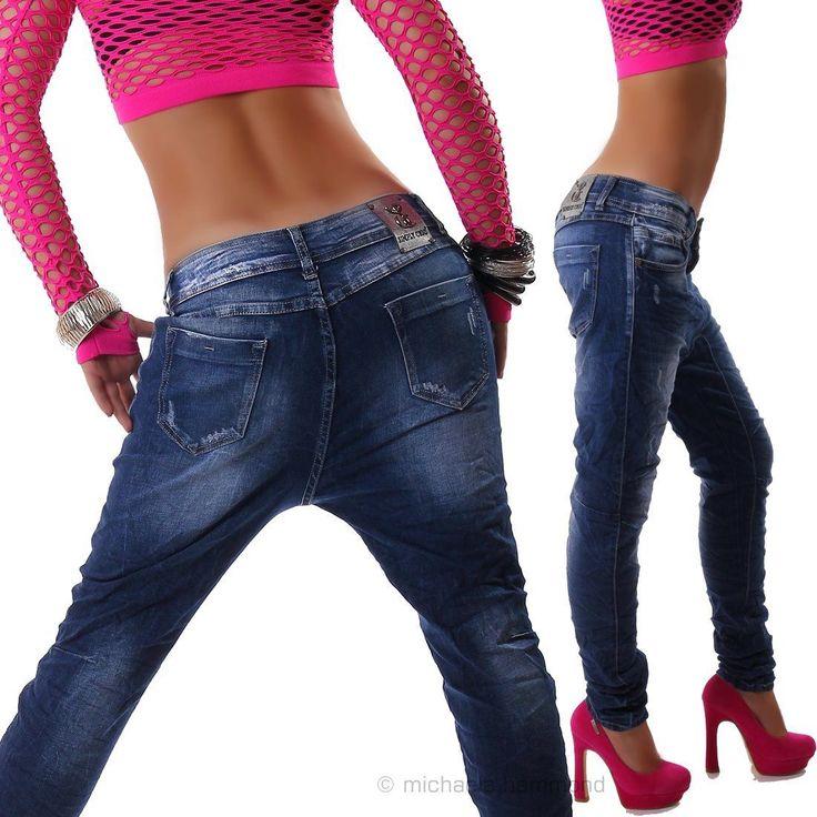 Damen Jeans Hose Boyfriend Haremshose Hüftjeans Neu Simply Chic XS s M L XL | eBay