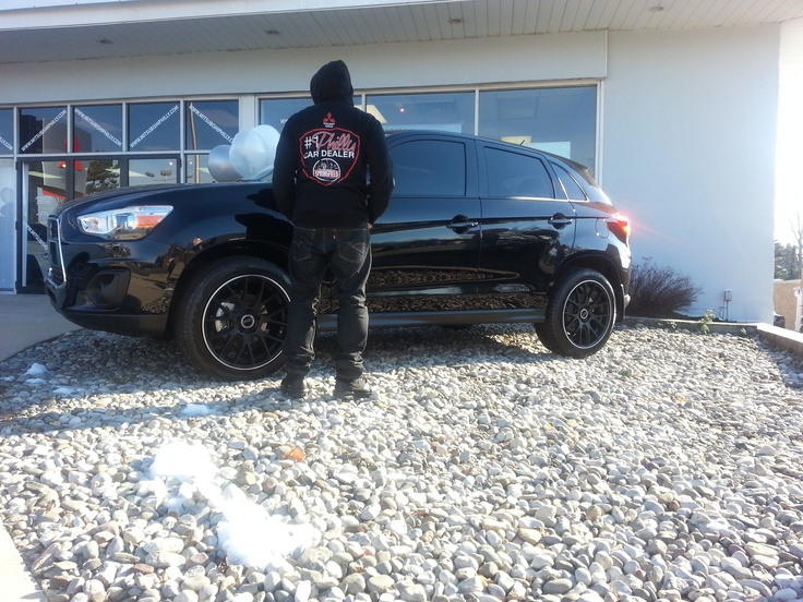 All black custom 2013 Mitsubishi Outlander Sport only at Your #1 Philly Car Dealer!