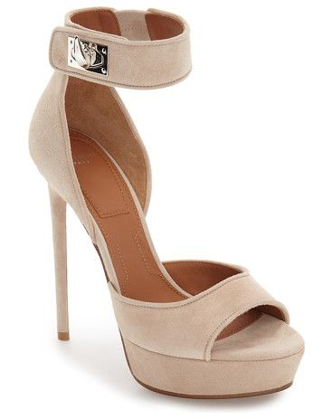 plara shark tooth sandal by Givenchy. A signature shark turnlock closure along the ankle strap adds an extra touch of serious style to a peep-toe sandal cu...