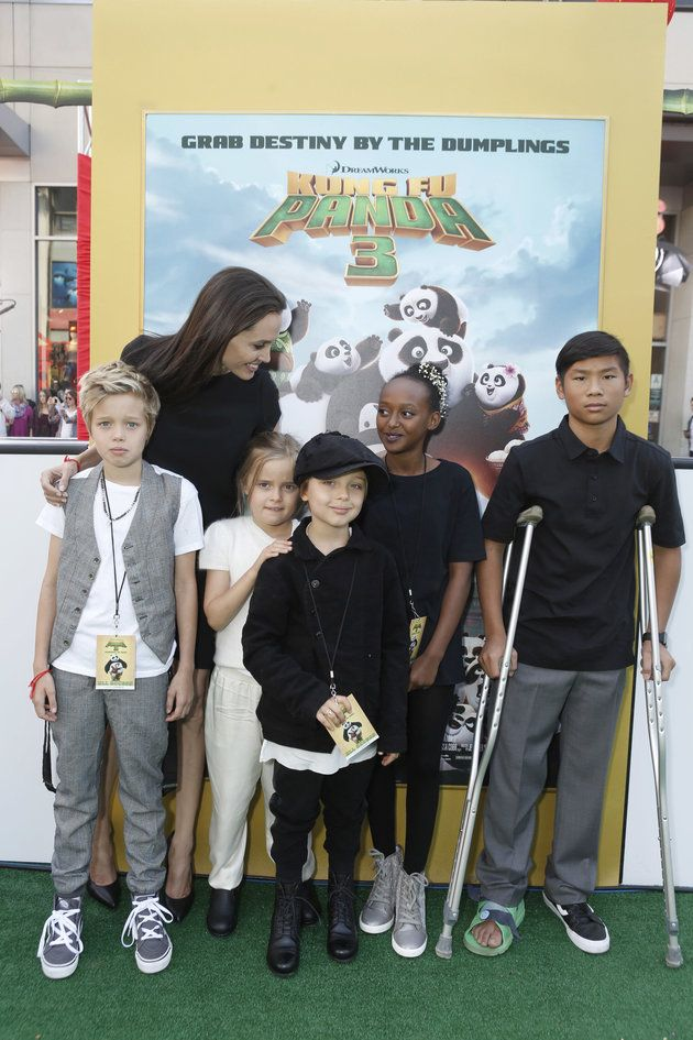 Angelina Jolie's Gorgeous Family Is All Grown Up At 'Kung Fu Panda 3' Premiere