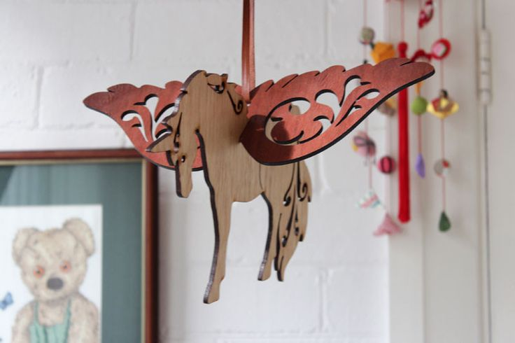 Laser-Cut Unicorn Baby Mobile