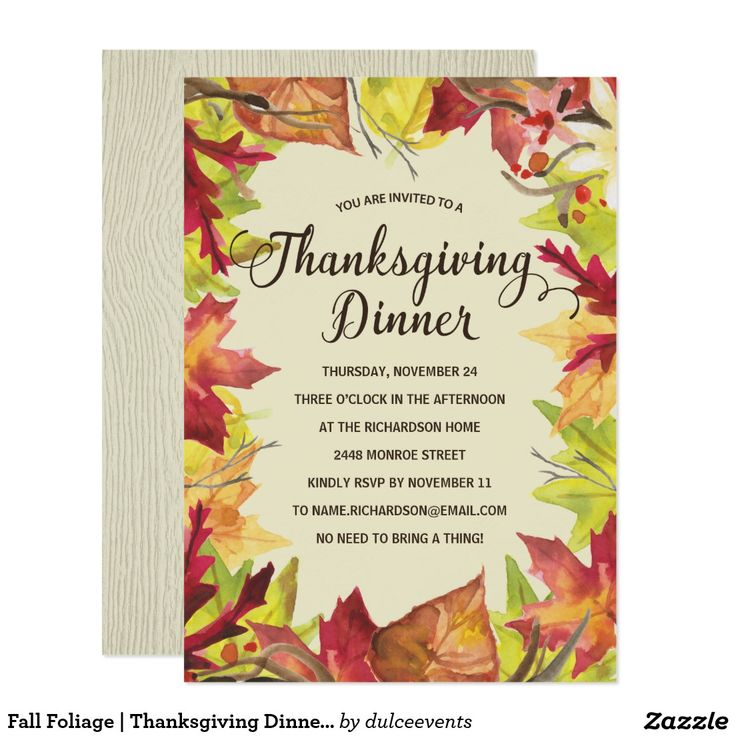 157 best Thanksgiving Party Invitations images on Pinterest ...
