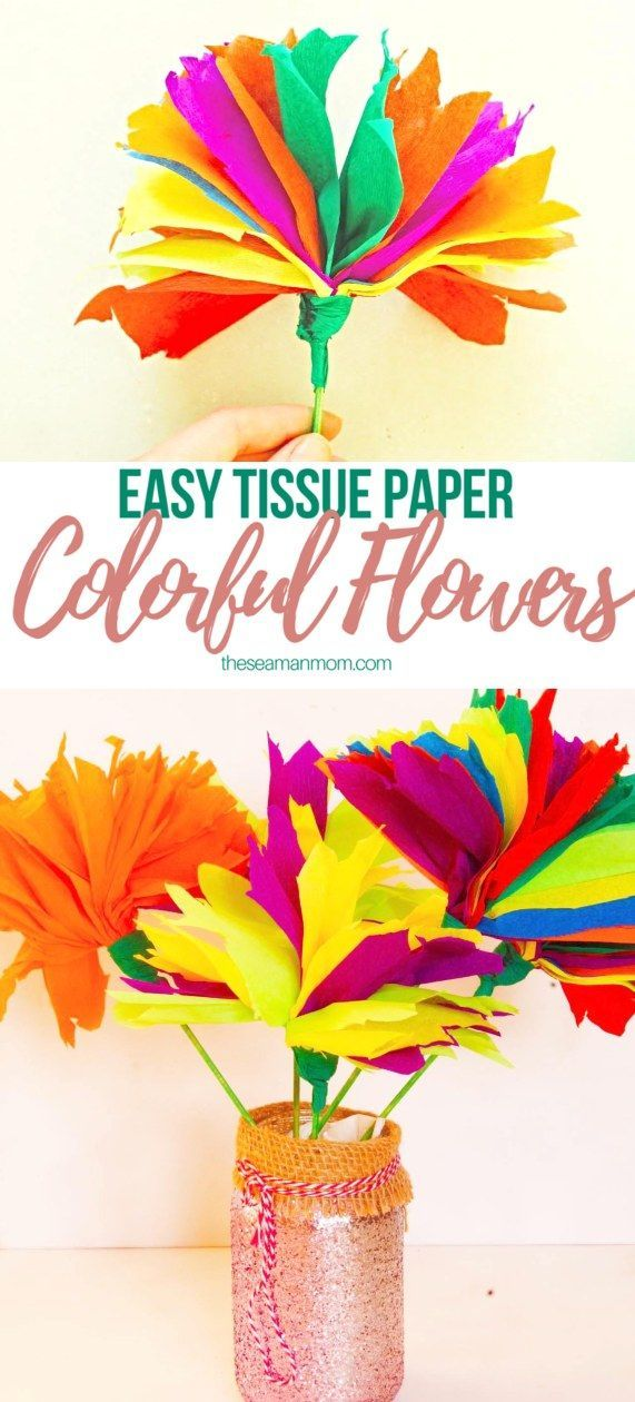These Easy Tissue Paper Flowers Make A Cute Addition To Any Room