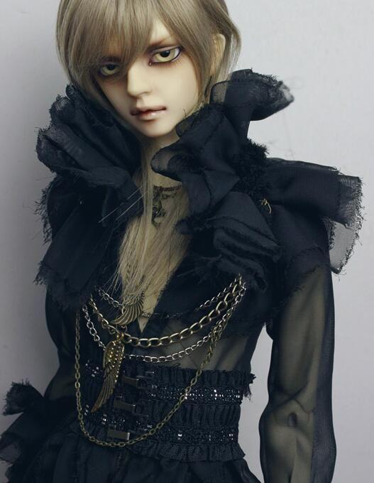 New 1/3 BJD Boy Doll Clothes Black Gothic Long black gauze clothing + beam wais | eBay