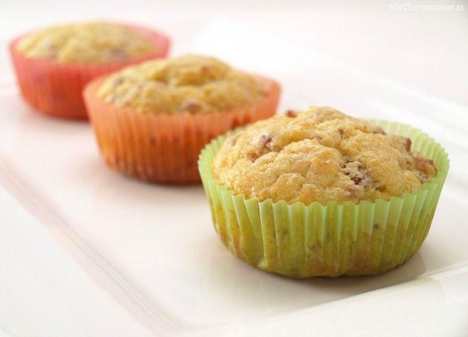 Muffins de jamón y queso - MisThermorecetas.com