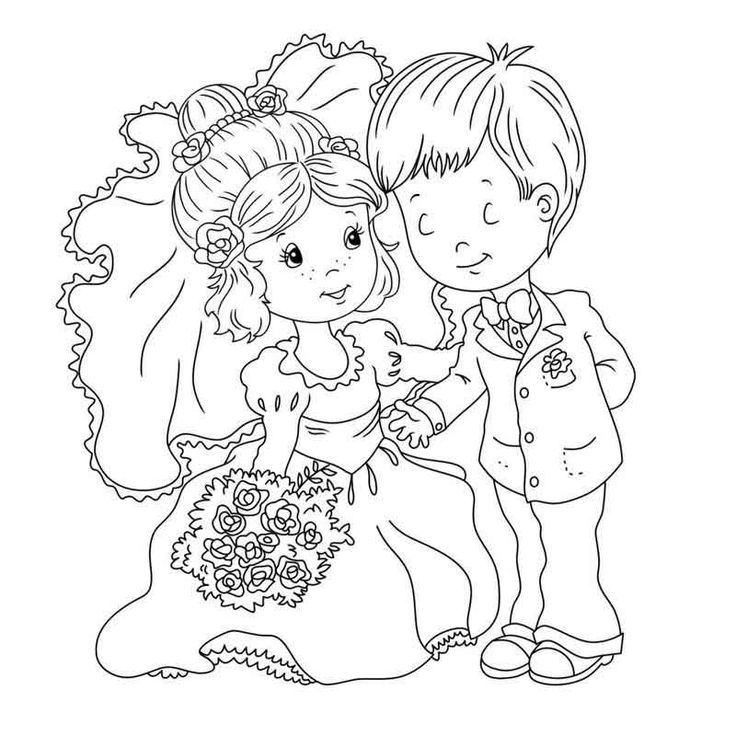 Printable Wedding Coloring Pages in 2020 Wedding