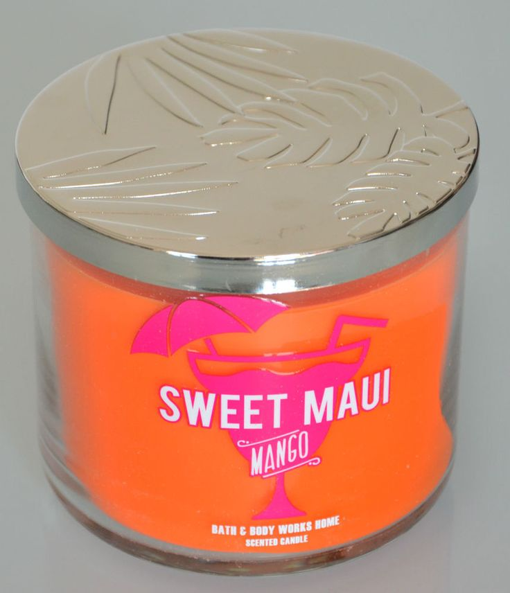 Grande bougie parfumée * Sweet Maui Mango * Bath and Body Works 3 wick candle