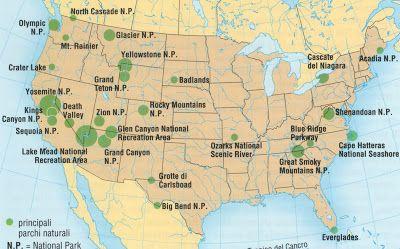 Guida di viaggio: I parchi nazionali degli Stati Uniti