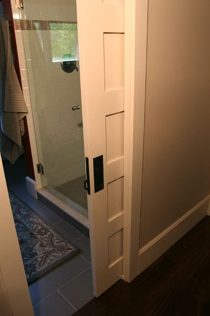 pocket door latch Kitchen Transitional with bathroom doors glass shower