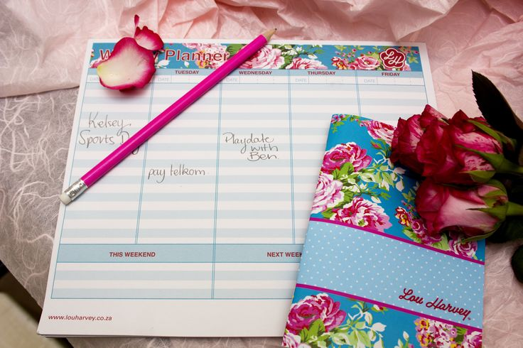 Lou Harvey weekly planner - must have! love the little notebook too. www.hellopretty.co.za