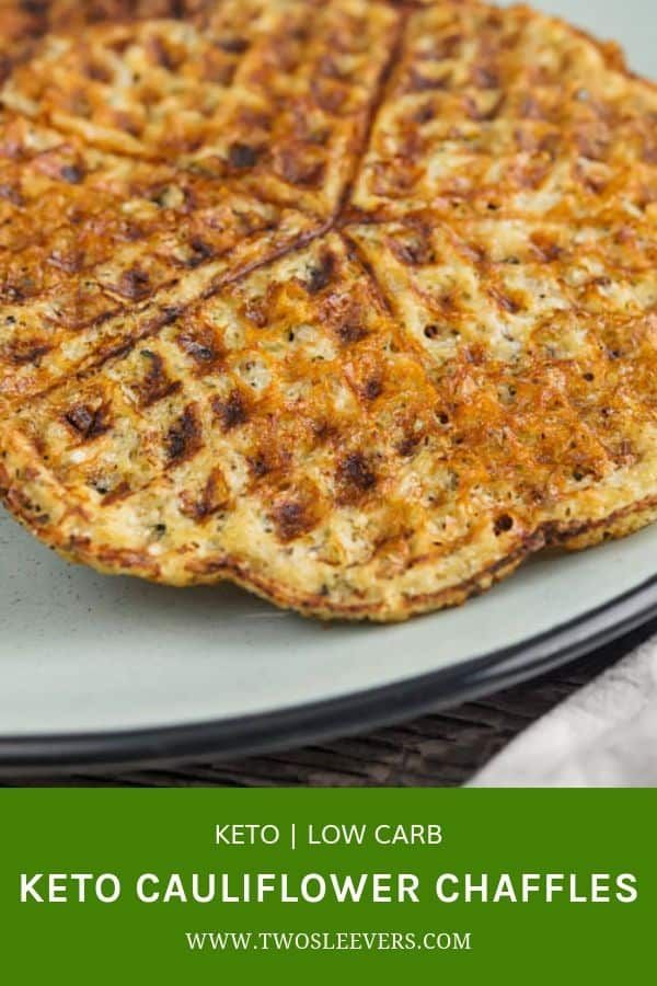 Keto Cauliflower Chaffle Recipe Chaffle Recipe Savory Chaffle