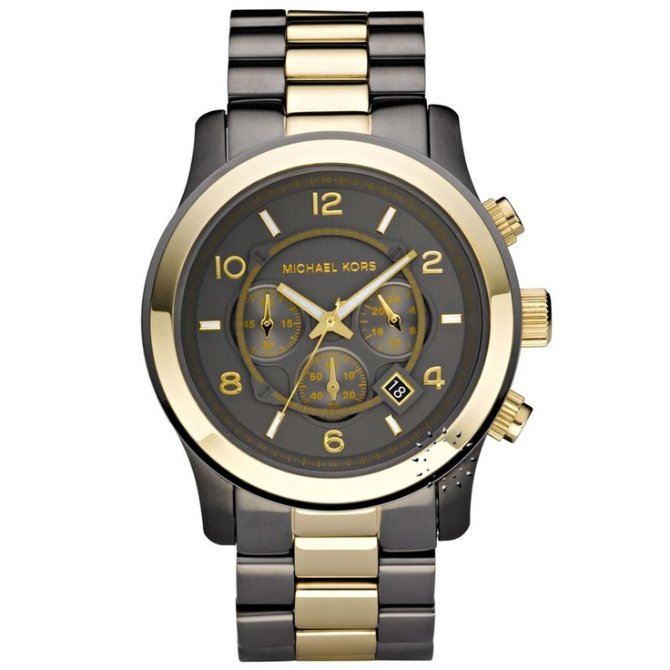 MICHAEL KORS Chronograph Two-Tone Stainless Steel Bracelet Μοντέλο: MK8160 Τιμή: 243€ http://www.oroloi.gr/product_info.php?products_id=26969