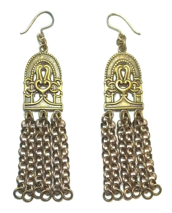 "KALEVALA KORU Vintage Bronze Earrings ""Paradise"""