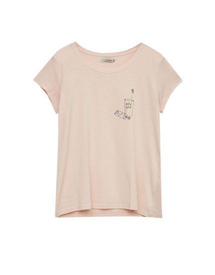 T-shirt with toothbrush illustration - T-shirts - Clothing - Woman - PULL&BEAR United Kingdom