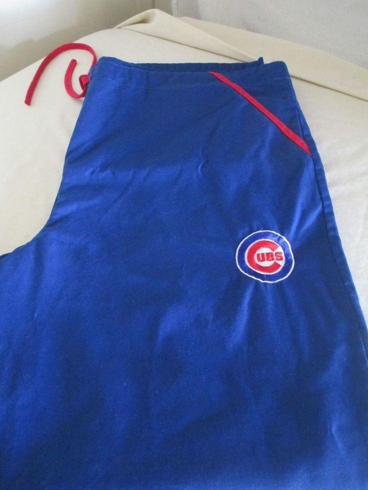 Chicago Cubs Scrub Pants - Medium - 3 Pockets - Tie Waist #ScrubDudz