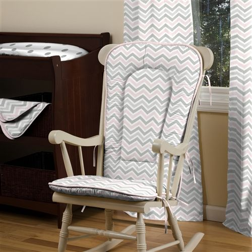 Pink And Gray Chevron Rocking Chair Pad Rocking Chair