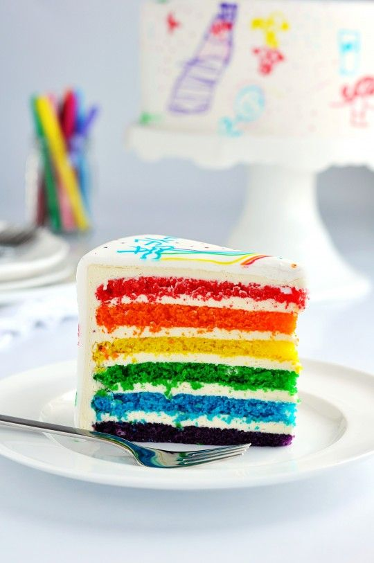 Rainbow Doodle Cake by Sweetapolita