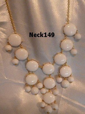 Necklace White Beaded #Neck149