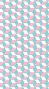 lé de papier peint graphique rose et gris Nestor by lé papier de Ninon - made in france