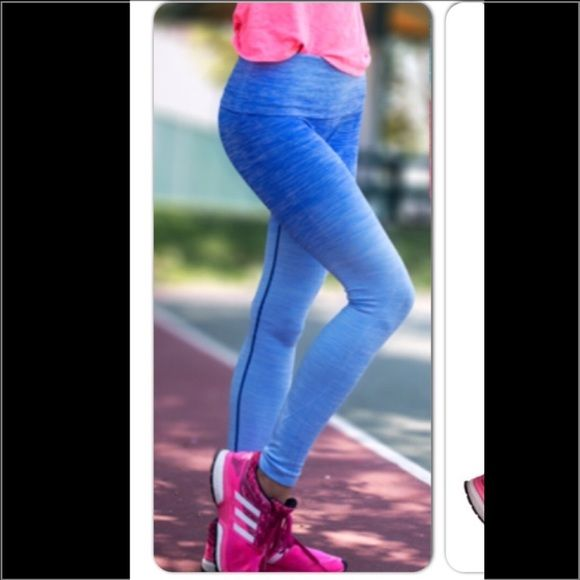 NWT Blue ombré gym leggings - blue size Large Brand new with tag. Pants Leggings