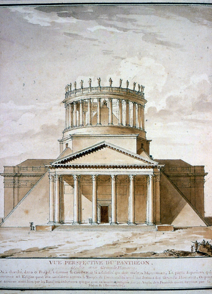 Charles De Wailly, Project for the transformation of the Pantheon, 1797
