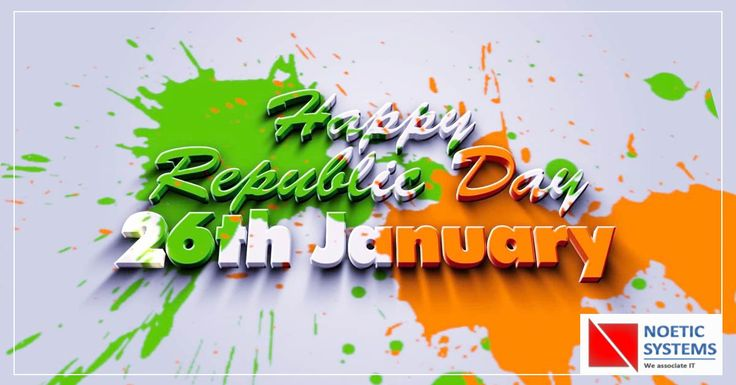 """Be the change you want to see in this world and feel proud to be an Indian!""  #26January #‎VandeMataram‬ #‎HappyRepublicDay‬ #JaiHind #NoeticSystems"
