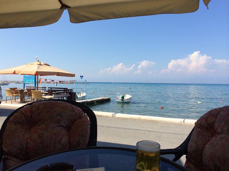 View sat at the Brandy Shop, Roda Corfu