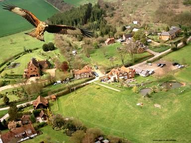 A Red Kite's eye view of Chudleigh and surrounding countryside