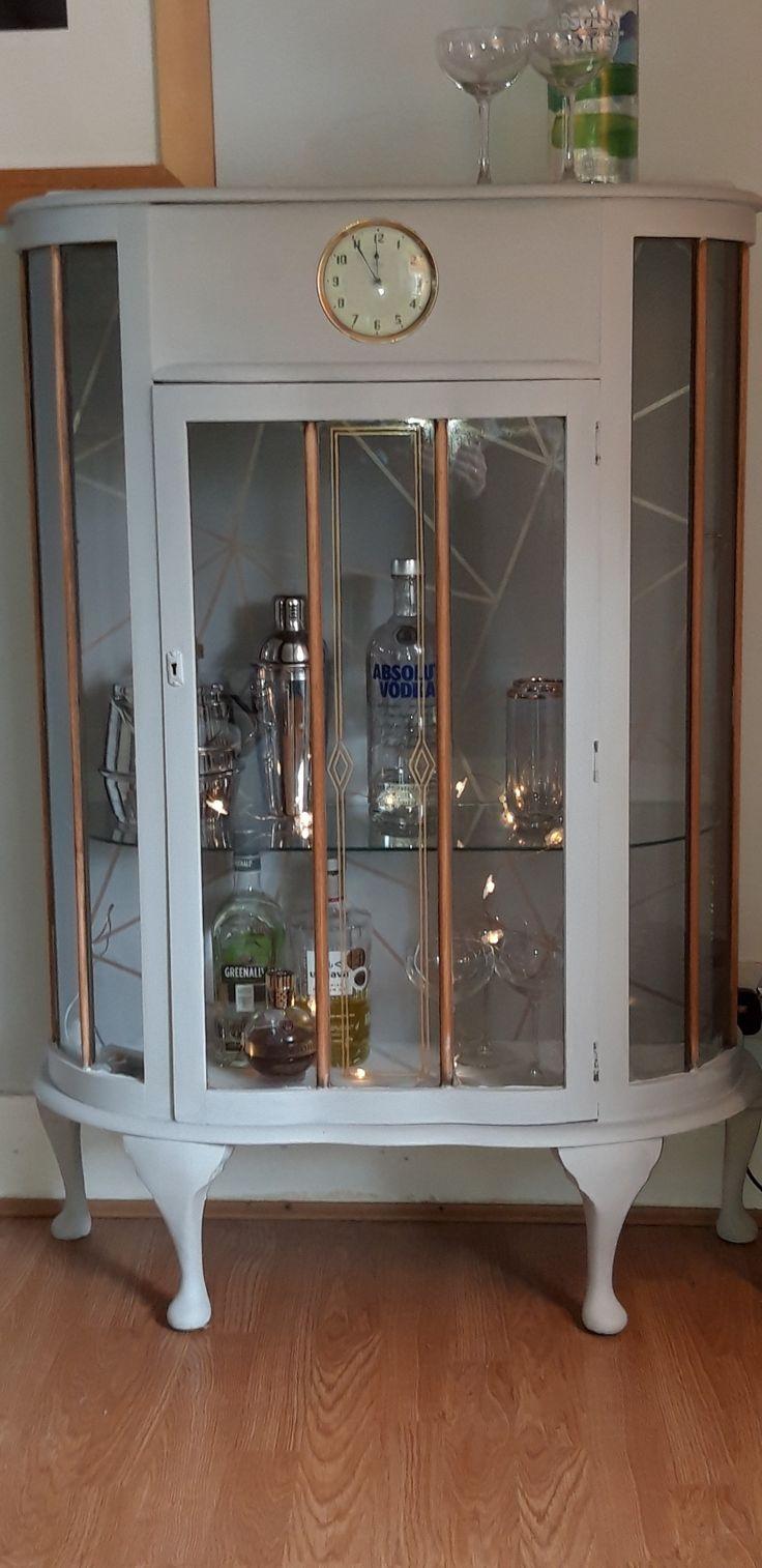 Painted display cabinet | Painted display cabinet, Display ...