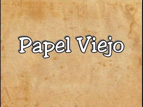 Papel Envejecido / Papel viejo / Papel pergamino - YouTube
