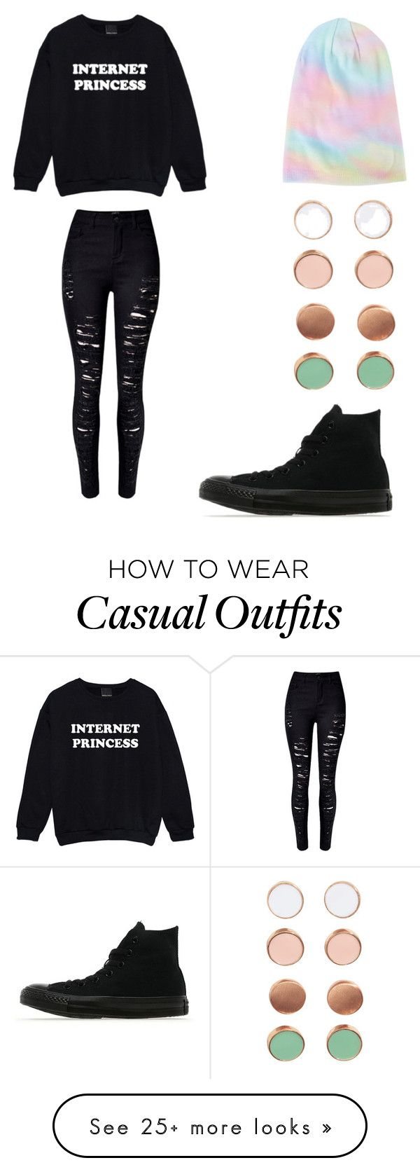"""Casual Scene"" by pardueizzy on Polyvore featuring Converse"