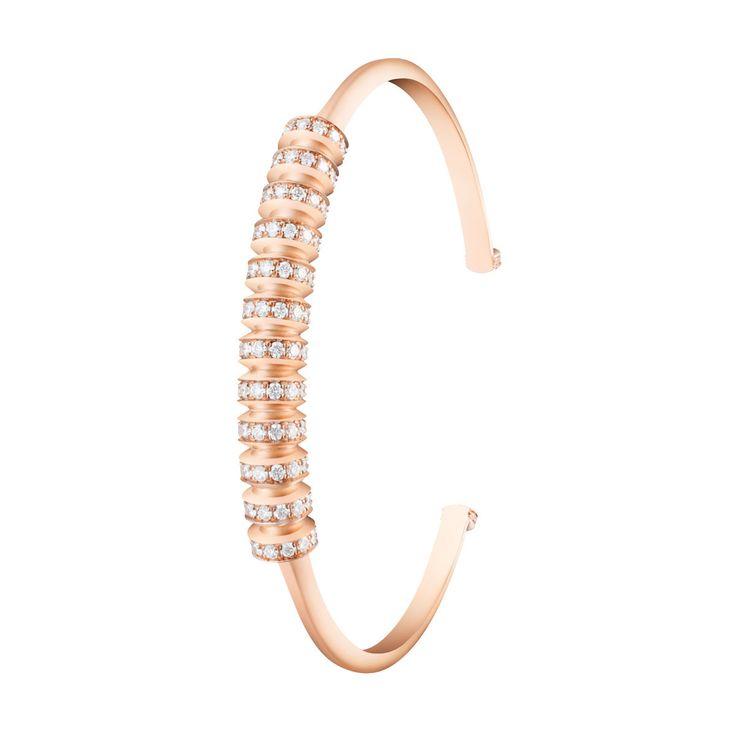 #MelissaKayeJewelry Tori #bracelet in #18k pink #gold with #diamonds #jewelry #finejewelry #pinkgold #fashion #style