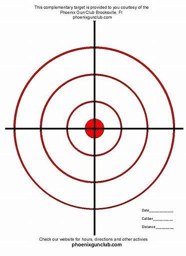 Pistol Targets Printable For 8 5x11 Targets Printable Shooting