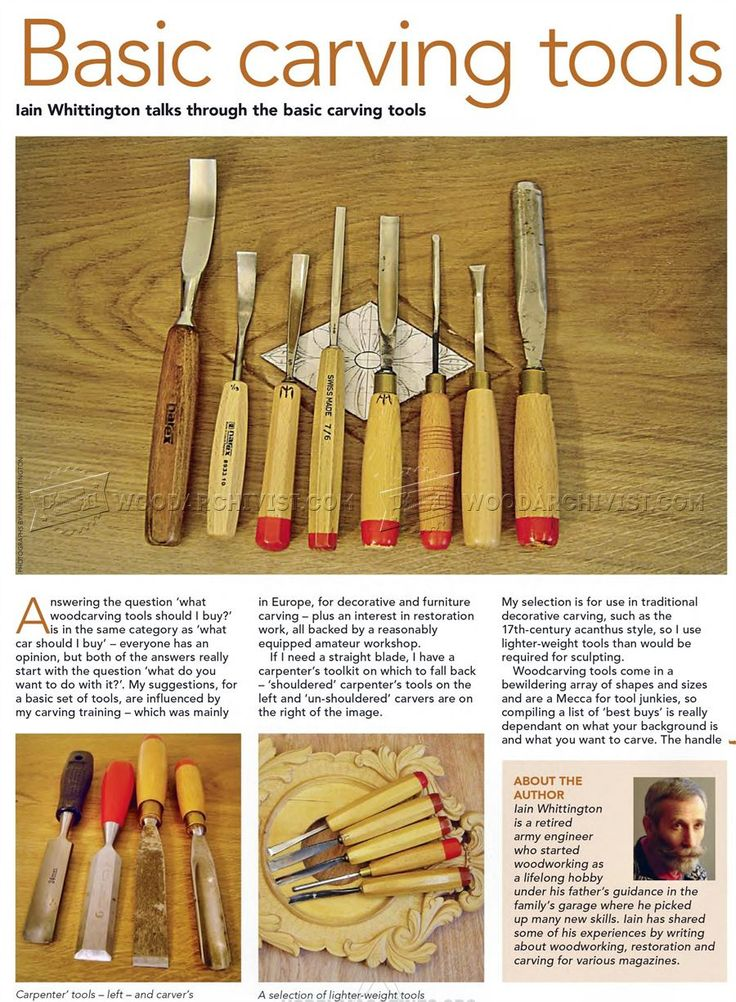 #1252 Basic Carving Tools - Wood Carving
