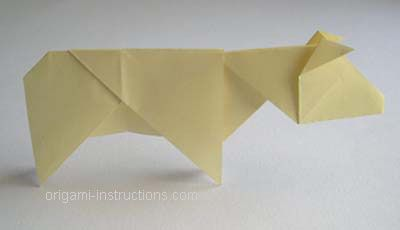 completedorigamicow origami pinterest origami and cow