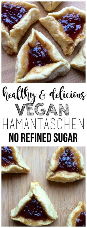 These healthy Vegan Hamantaschen are delicious, jam-filled cookies made with no refined sugar! The perfect Purim treat!