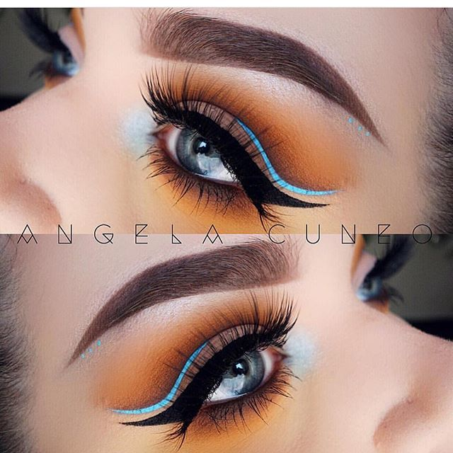This reminds me of Pocahontas so beautiful @angela_cuneo!! Wearing @eyerisbeauty lashes in cleopatra