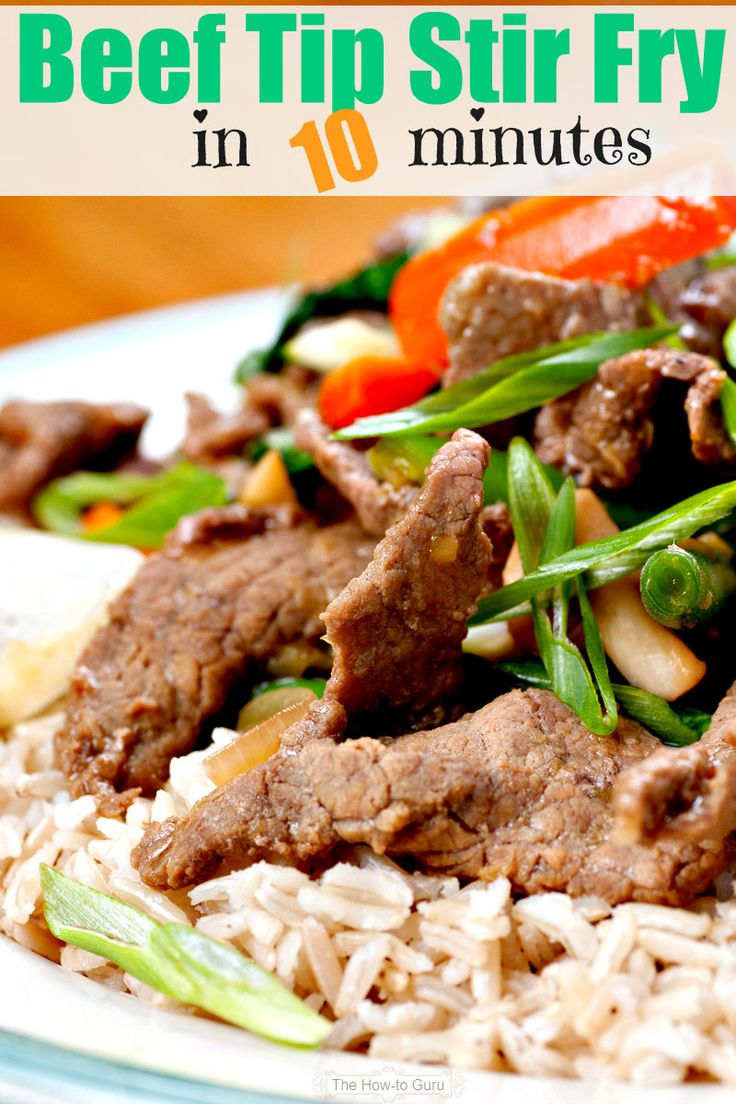 This beef stir fry recipe is a wonderful go-to dish that sticks to your ribs, uses one skillet, and can be ready in 10! WHA? Yep, you'll love this simple meal that requires no brain power but will thrill your taste buds.