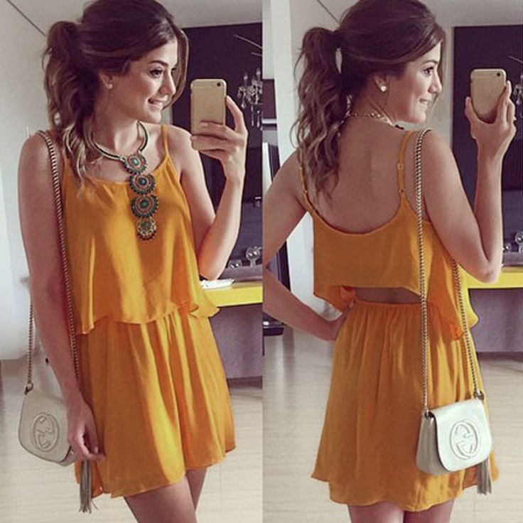 Sexy Women Camisole Backless Hollow Sleeveless Two Piece Casual Dress - Jumpsuit - Women's Clothing - Clothing,Shoes & Accessories -Free Shipping for all to over 200 countries on Malloom.com