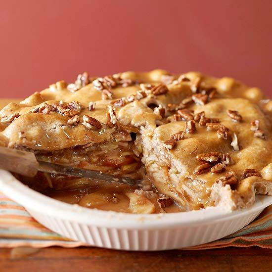 delectable Apple-Pear Praline Pie has a nut-flavored crust. More apple ...