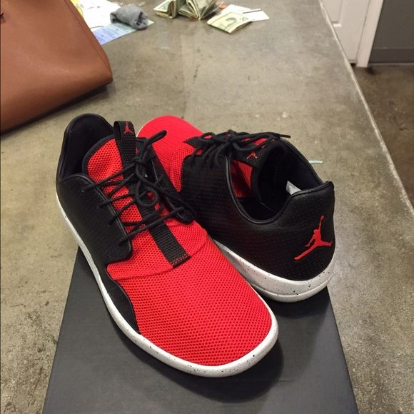 f2faa0638618 ... italy air jordan eclipse leather nike jordan eclipse trainer in black  university red youth size 7 ...