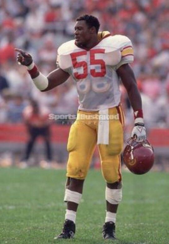USC Football Fight On Men Of Troy Cardinal and Gold Hall of fame Willie Mcginest