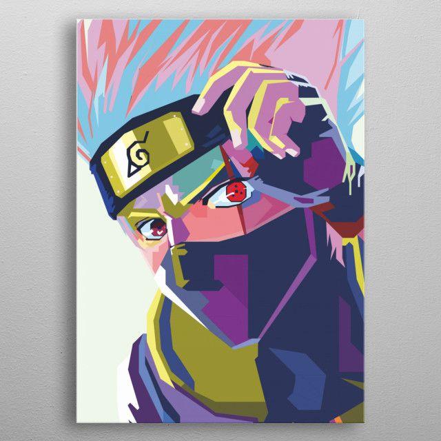 Ninja Pop Art Pop Art Poster Print Metal Posters Dengan Gambar