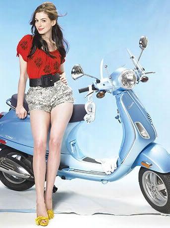 anne hathaway - actor: Bikes, Vespa Girls, Cars, Scooter Girl, Scooters, Beauty, Motion, Anne Hathaway, Wasps