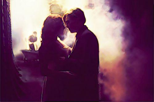 Jack and Rose, boiler room scene.  Digital art.