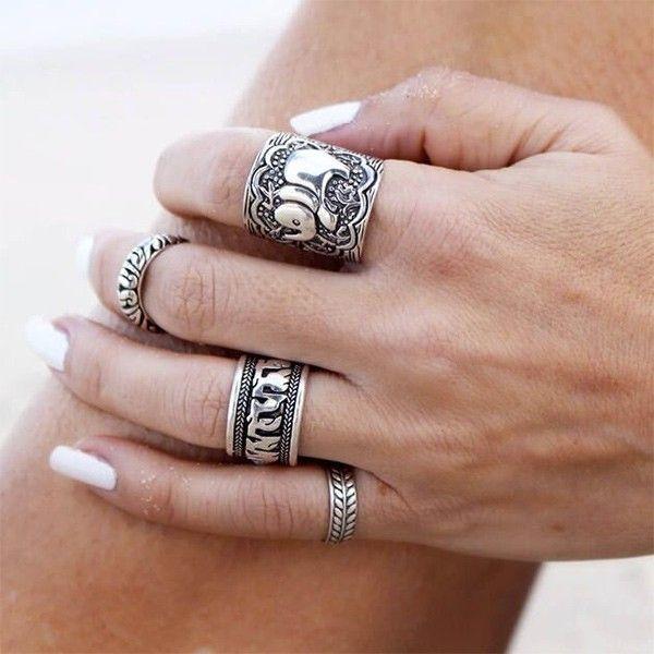 Ringen set elephant silver