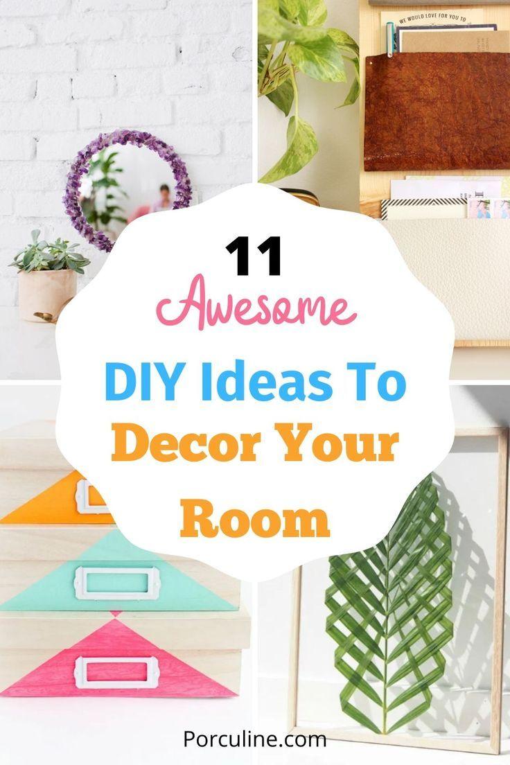 11 Easy Diy Ideas To Decor Your Room In 2020 Easy Diy Room Decor