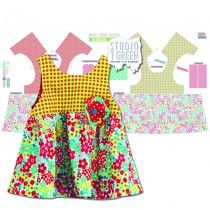 DIY Fabric Panel - Party Dress Bright (3 - 12 months)