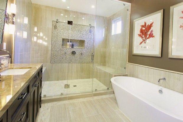 Кремовые тона в оформлении ванной комнаты