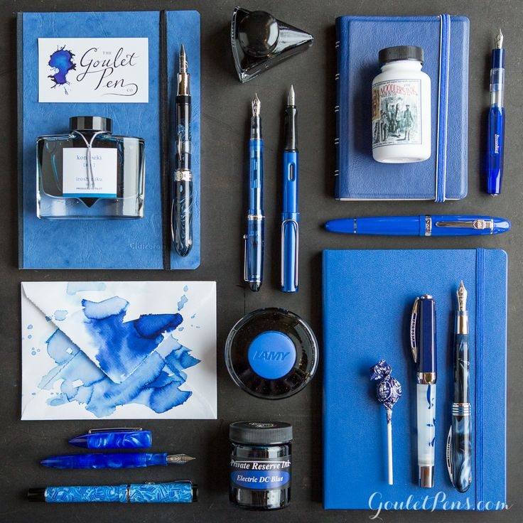 Goulet Pens Blog: Thursday Things: Goulet Blue